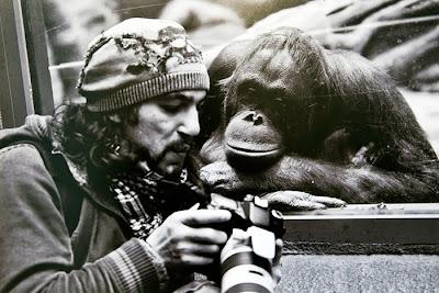 Fotógrafo enseñando sus fotos a la modelo