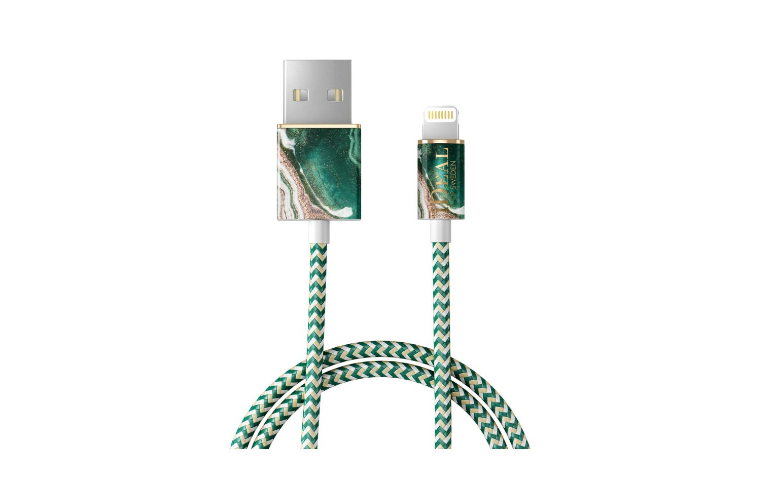 Ideal of Sweden Fashion Charger - Golden Jade Marble