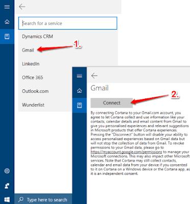 menghubungkan gmail dengan cortana di windows 10-3
