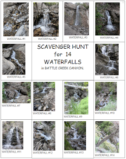 Scavenger Hunt for Battle Creek Canyon Utah
