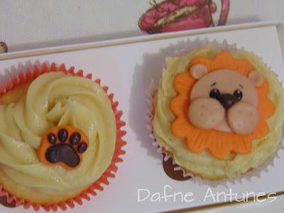 Cupcakes de leão