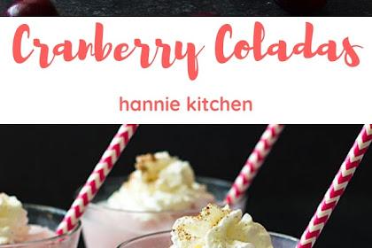 Cranberry Coladas #christmas #smoothi