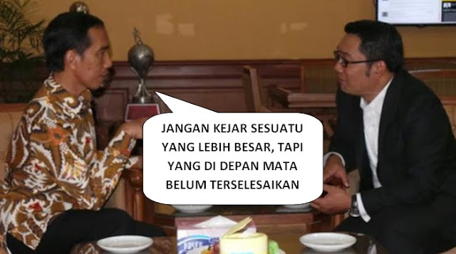 Nasehat Jokowi pada Ridwan Kamil: Jangan Kejar yang Lebih Besar, Jika Amanah Belum Terselesaikan