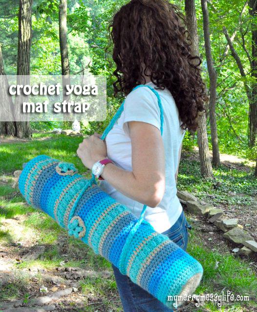 Crochet Yoga Mat Strap Free Crochet Pattern My Merry Messy Life