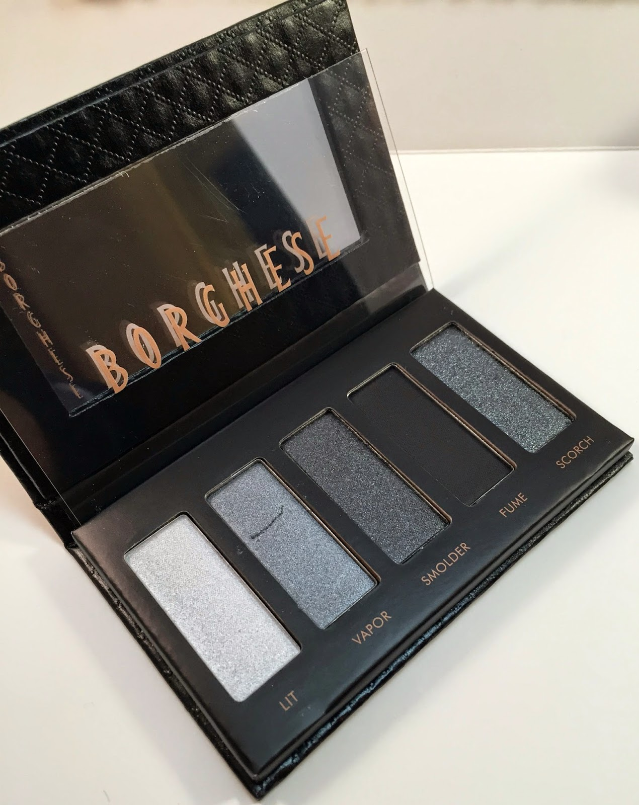 Borghese Palettes and Eyeliner Review