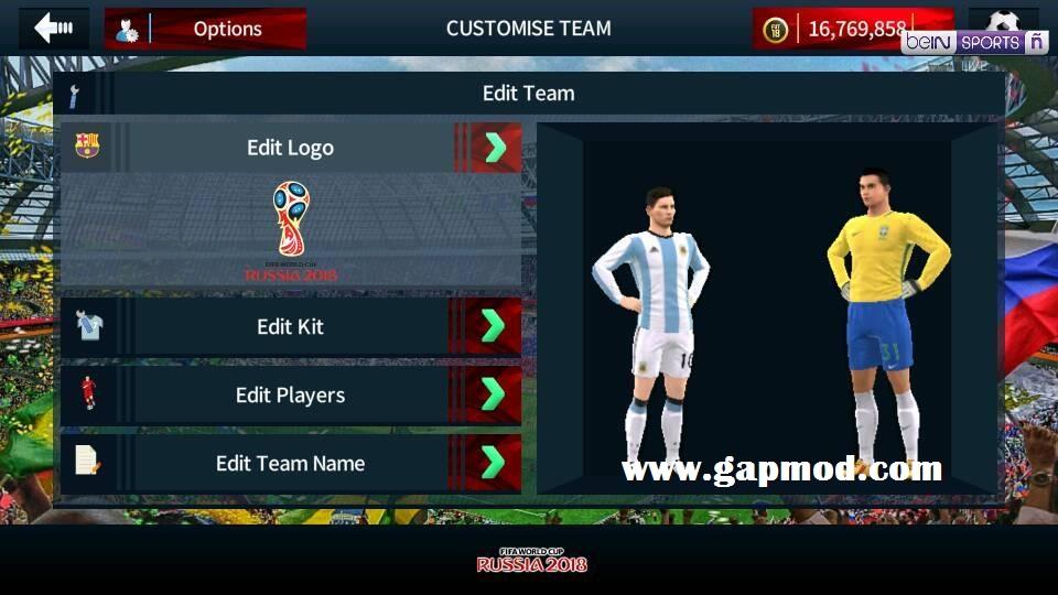 Dream League Soccer DLS 2019 Mod Russia World Cup 2018