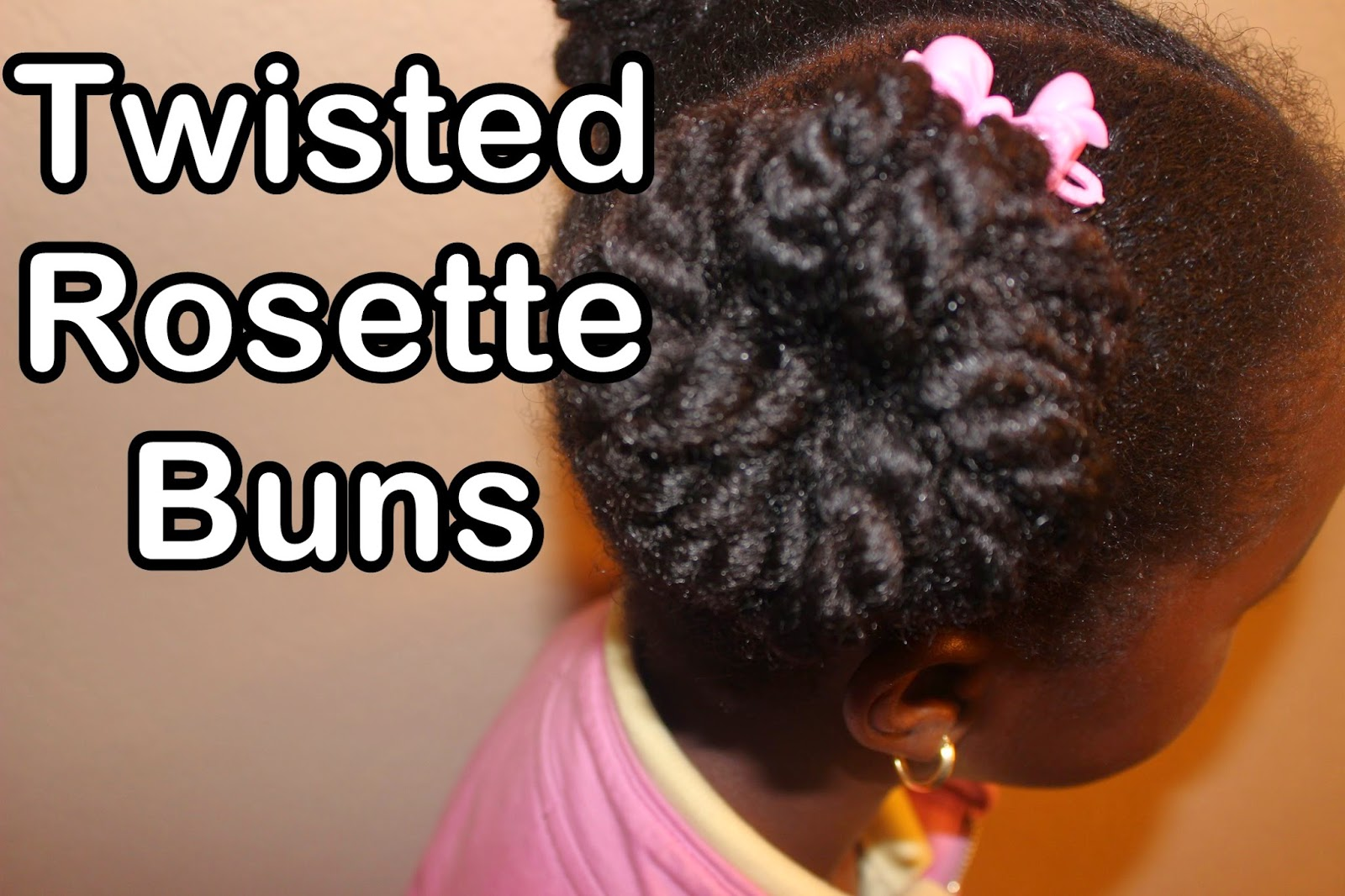 Twisted Rosette Bun with Natural Hair