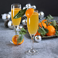 Winter Citrus Champagne Cocktail