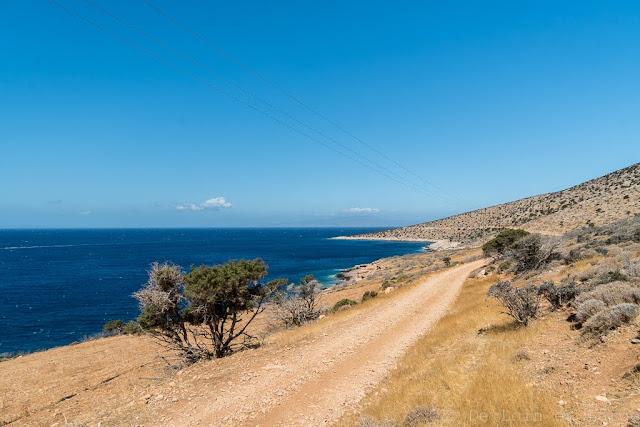 Piste d'Agiassos à Kalados-Naxos-Cyclades