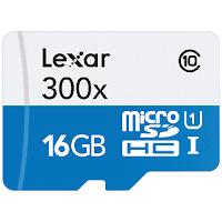 micro sd lexar memiliki warna biru putih
