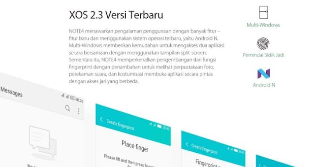 XOS 2.3 Infinix Note 4