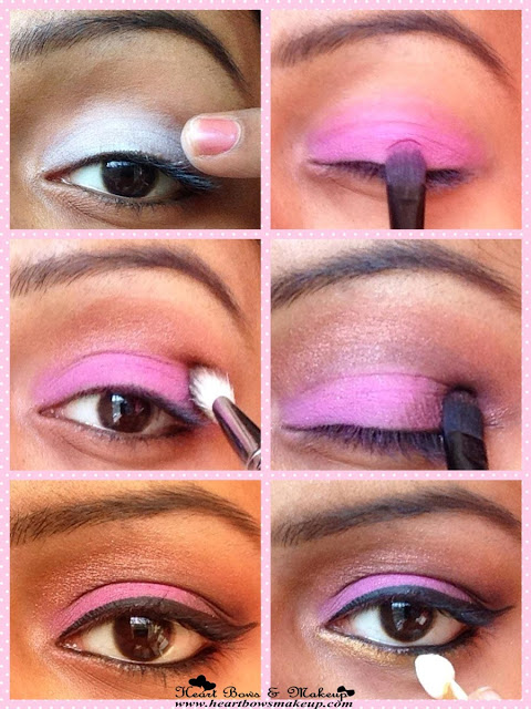 easy pink and bronze party eyemakeup tutorial india