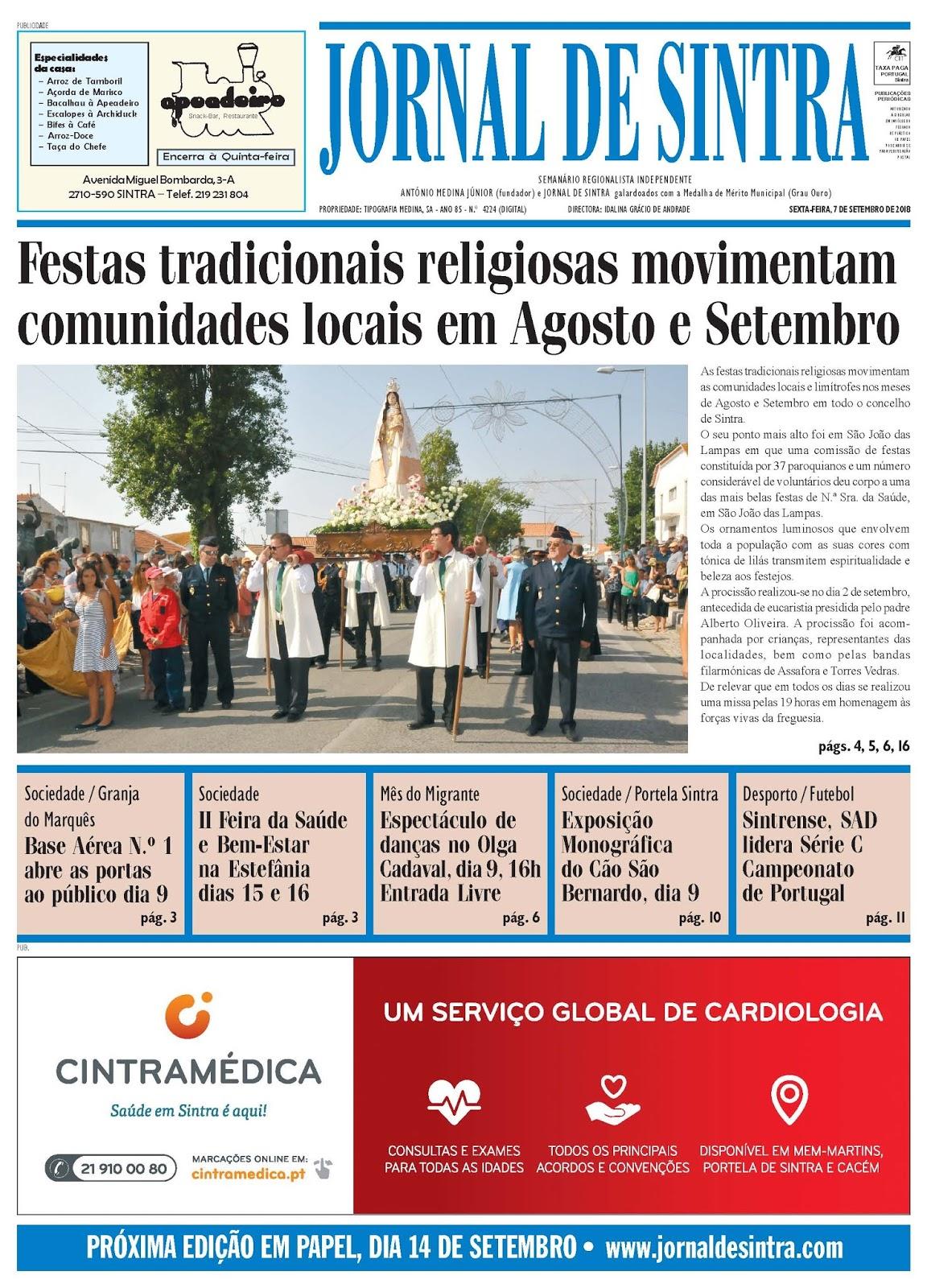 Capa da edição de 07-09-2018
