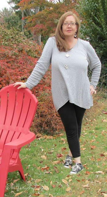 Leggings and a Tunic styled with Converse