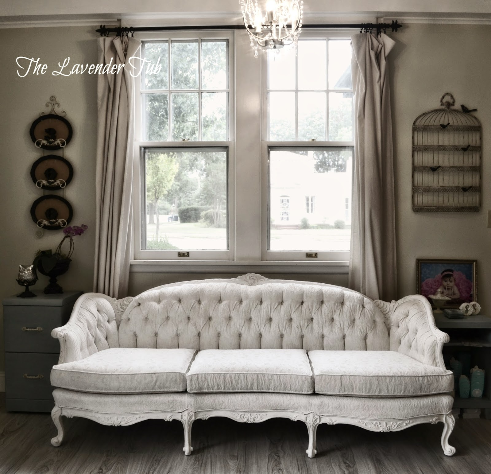 Victorian Couch: The Lavender Tub: Victorian Sofa Updated With Annie Sloan