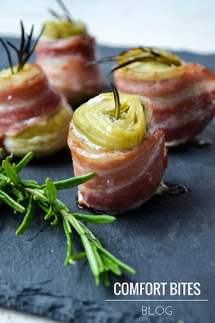 COMFORT BITES BLOG Bacon Wrapped Artichoke Hearts With