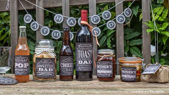 father's day chalkboard labels