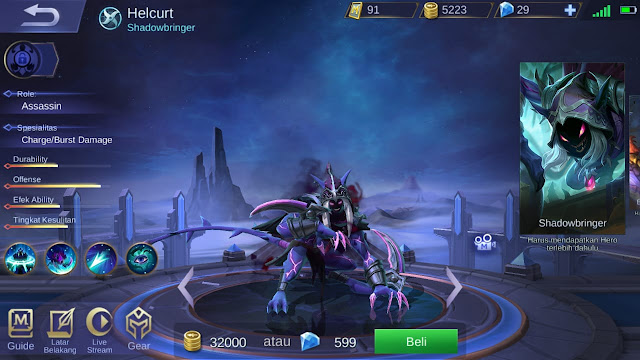 Assasin Terkuat di Mobile Legends Season 11 Helcurt