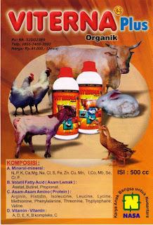 Viterna Plus, Suplemen ternak organik untuk semua ternak, unggas, ikan dan udang.