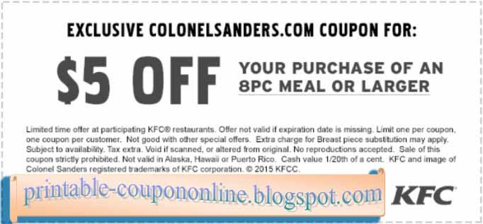 Kfc coupons printable 2019