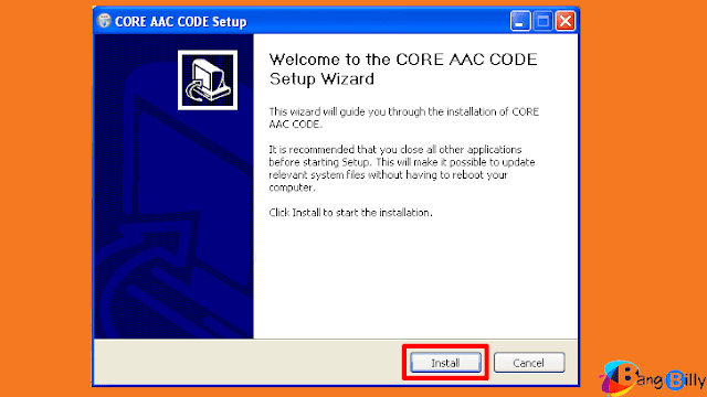 Install CORE AAC CODE