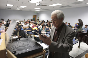 Kenny Burrell, jazz guitarist and ethnomusicology instructor at UCLA