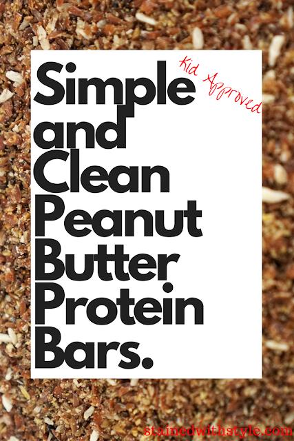 peanut butter protein bar, no bake healthy snacks