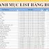 List 8000 danh mục các mặt hàng tạp hóa, siêu thị mini kinh doanh