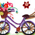 Quilling Bicycle with Flowers