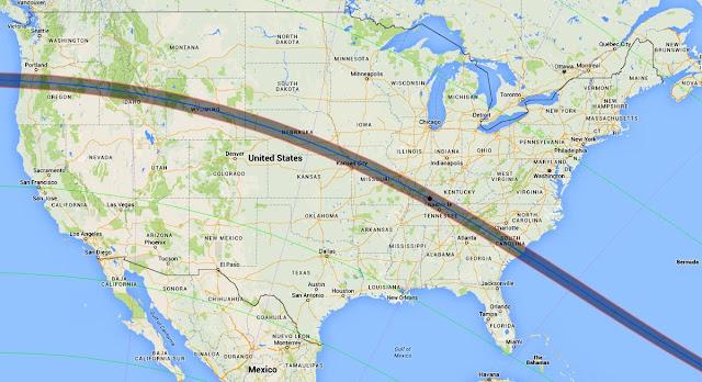 Total Eclipse Path USA