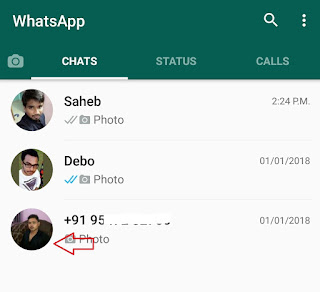 whatsapp chat open to block a person