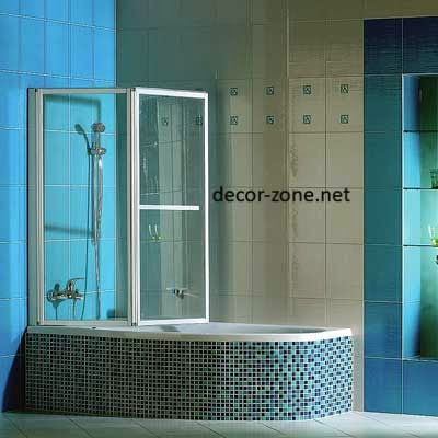 glass bathroom shower curtains ideas