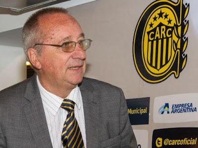 el presidente de Rosario Central Broglia,integrante de AFA