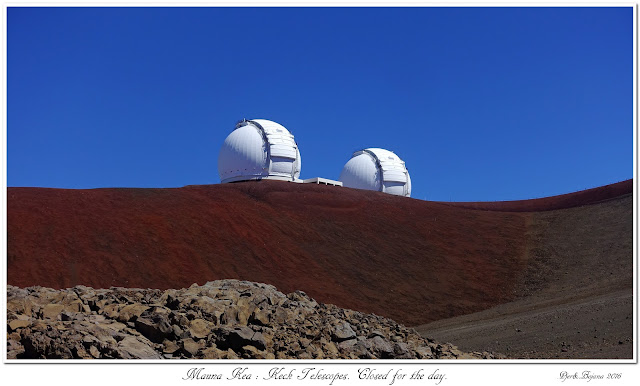Mauna Kea: Keck Telescopes. Closed for the day.