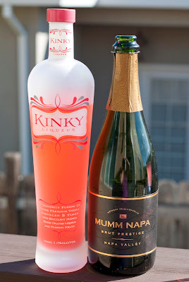 new years cocktail, new years eve cocktail, champagne, kinky liqueur, kinky bubbles