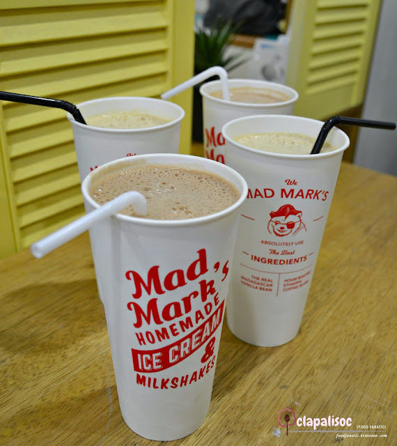 Milkshakes from Mad Mark's Creamery Kapitolyo