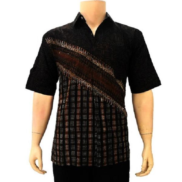 Gambar Baju Batik Kantor Pria: Model Baju Batik Pria Lengan Panjang Modern Modis Terbaru