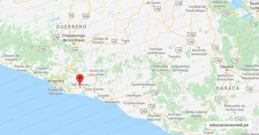 Temblor en México de Magnitud 4.3 (Hoy Miércoles 5 Junio 2019) Sismo - Epicentro - San Marcos - Guerrero - SSN - www.ssn.unam.mx