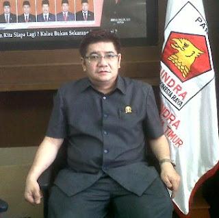 Dr, Benjamin Kristianto Mars selaku juru bicara Fraksi Partai Gerindra