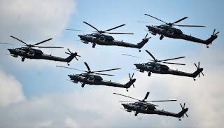 Tim Aerobatik Helikopter Negeri Beruang Merah