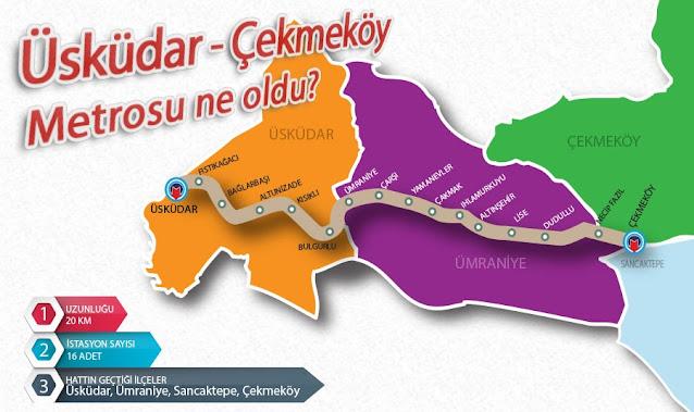 Üsküdar - Çekmeköy metrosuna ne oldu?