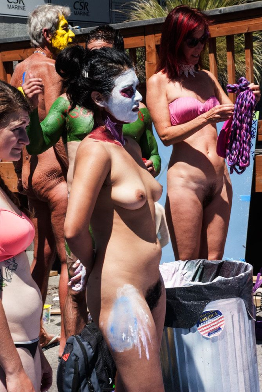 nudists parade