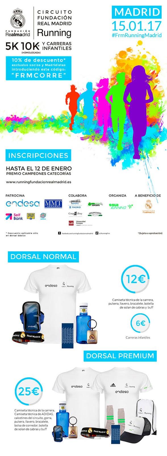 Apúntate a la I Carrera Solidaria Fundación Real Madrid
