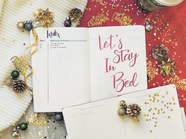 bullet journal index page blogmas 2018