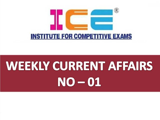 ICE Rajkot - ICE Magic Weekly Current Affairs Ank No - 01