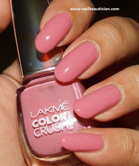 Shiny Pink Nail Art
