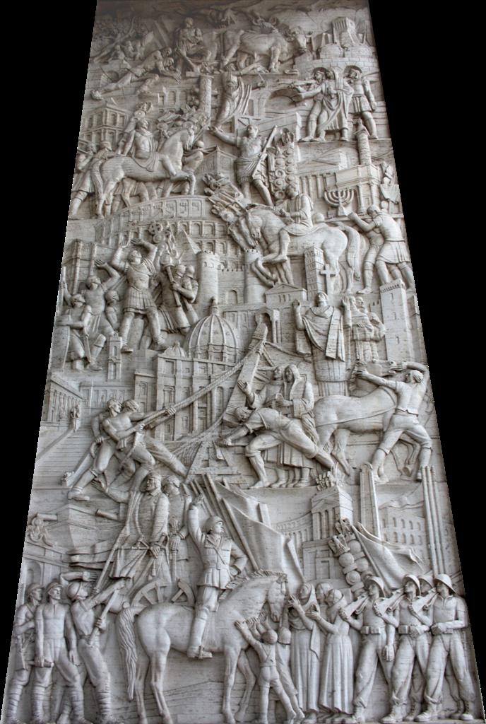 Immagina roma la storia di roma in un bassorilievo for Uffici roma eur
