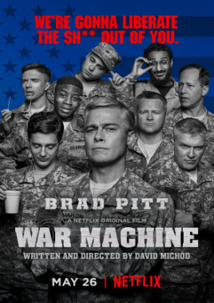 War Machine 2017 Hindi Dubbed Dual Audio 300mb Movie DVDScr Download
