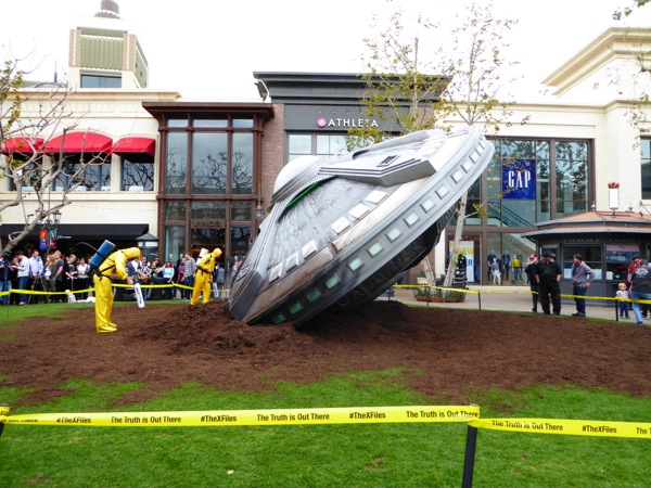 Crashed UFO X-Files PR stunt The Grove