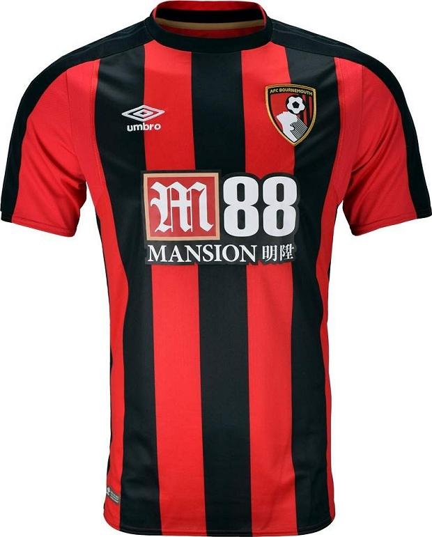 Umbro lança as novas camisas do AFC Bournemouth - Show de Camisas c1d4562b229fd